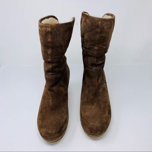 UGGs Brown Sherpa Suede Boots Sz. 8